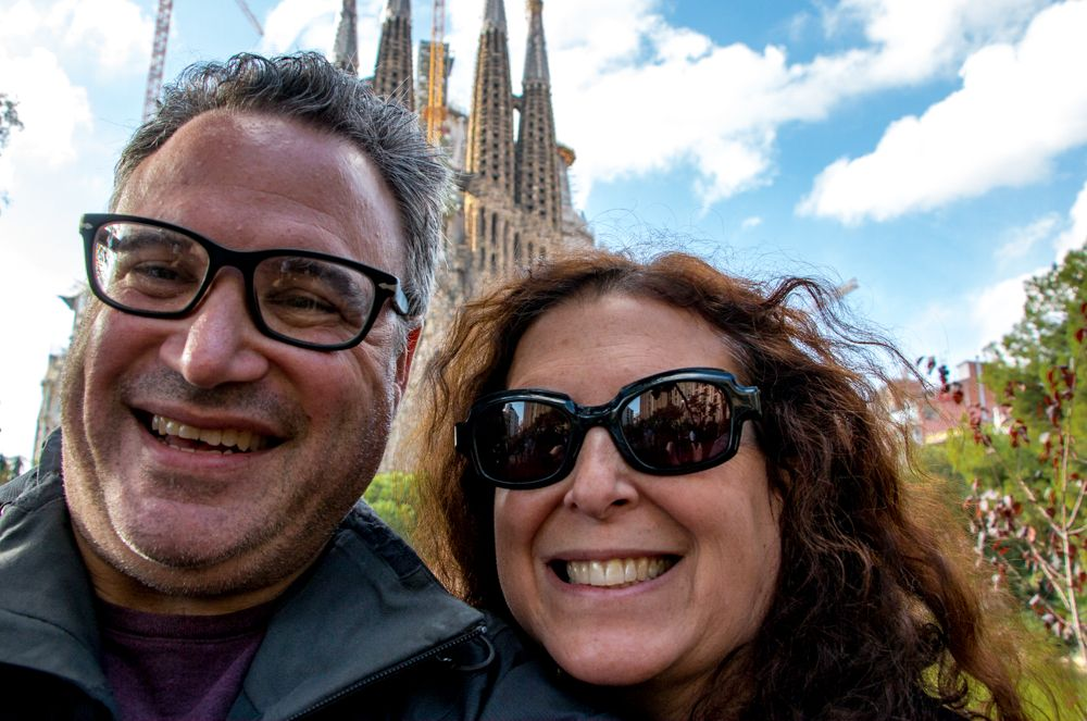2foodtrippers at the Sagrada Familia in Barcelona Spain