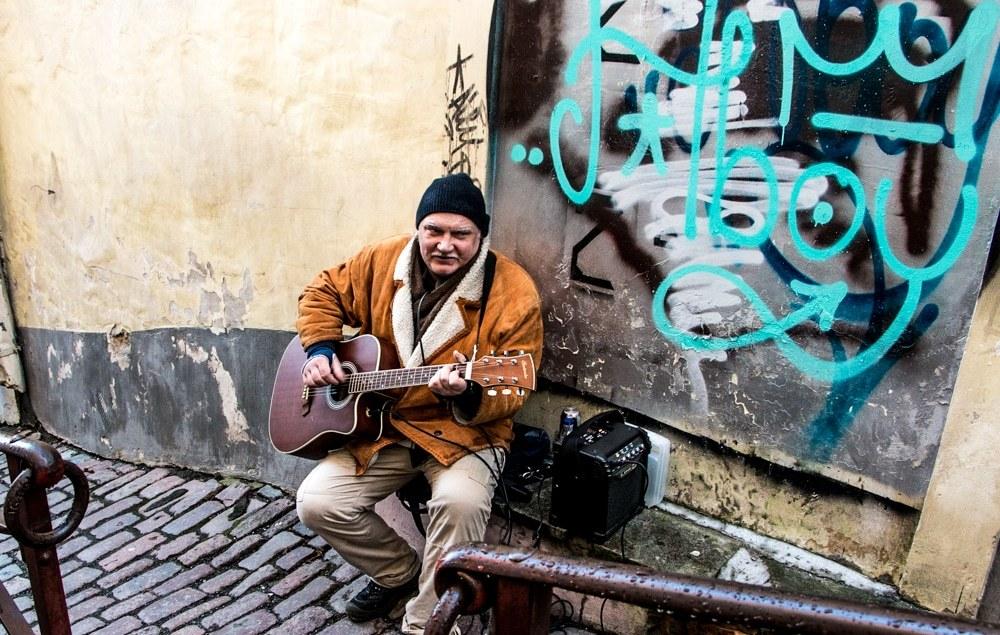 Street Performer in Tallinn Estonia