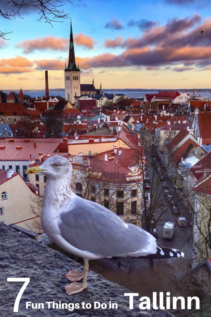 Pinterest image: image of Tallinn with caption reading '7 Fun Things to do in Tallinn'