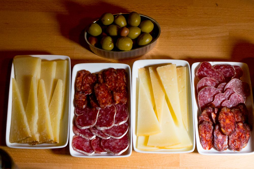 Charcuterie and Cheese on the Devour Barcelona Tapas and Wine Tasting Tour