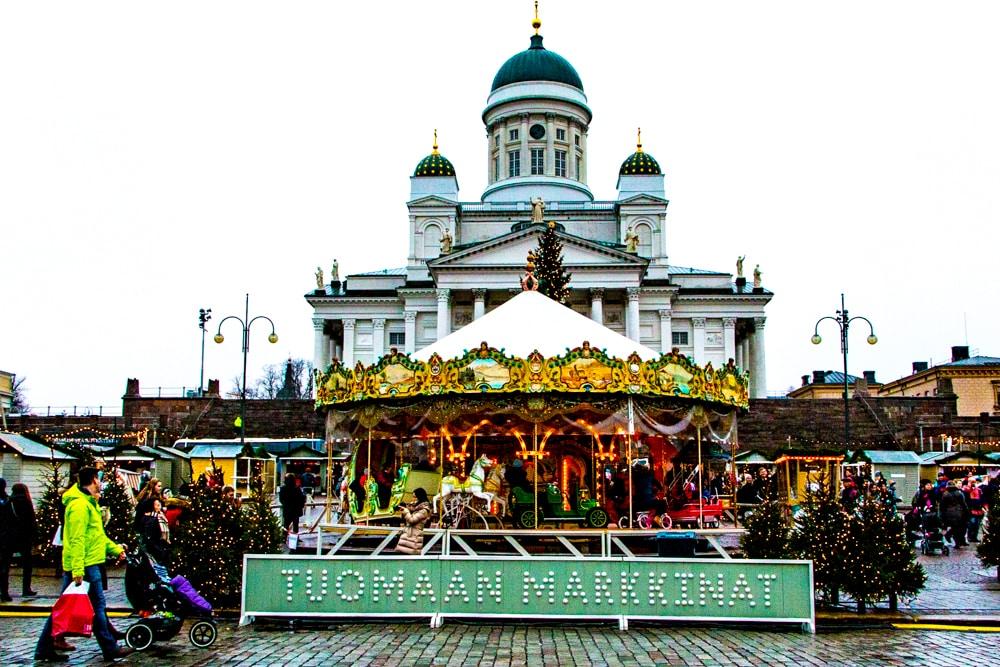 St. Thomas Christmas Market in Helsinki Finland