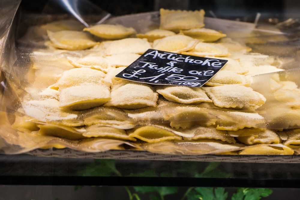 Raviolli at Lina Stores in Soho - London Food Tour
