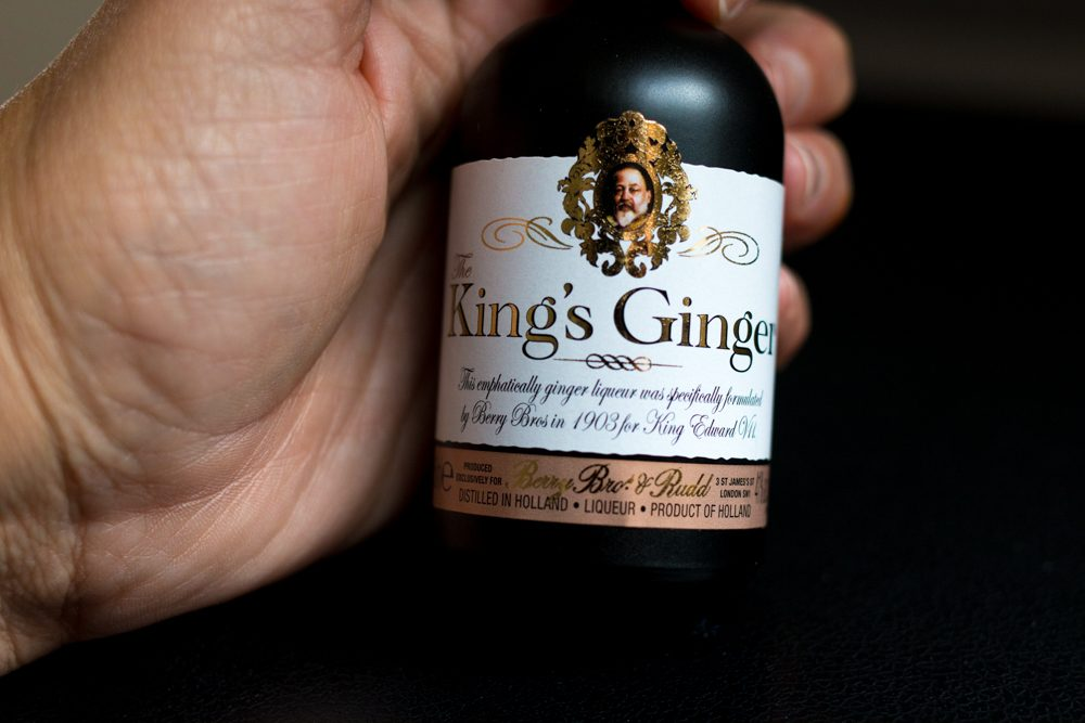 Mini Bottle of King's Ginger Liqueur at Berry Bros. & Rudd - London Food Tour