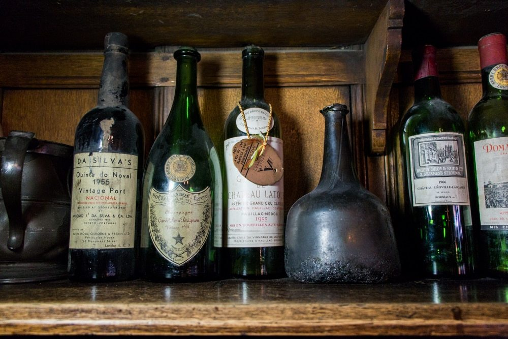Vintage Wine Bottles at Berry Bros. & Rudd - London Food Tour
