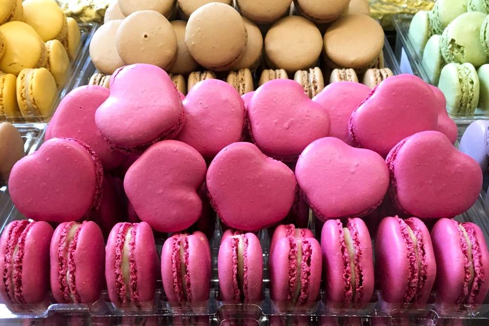 Macaron Rainbow at Laduree - London Food Tour