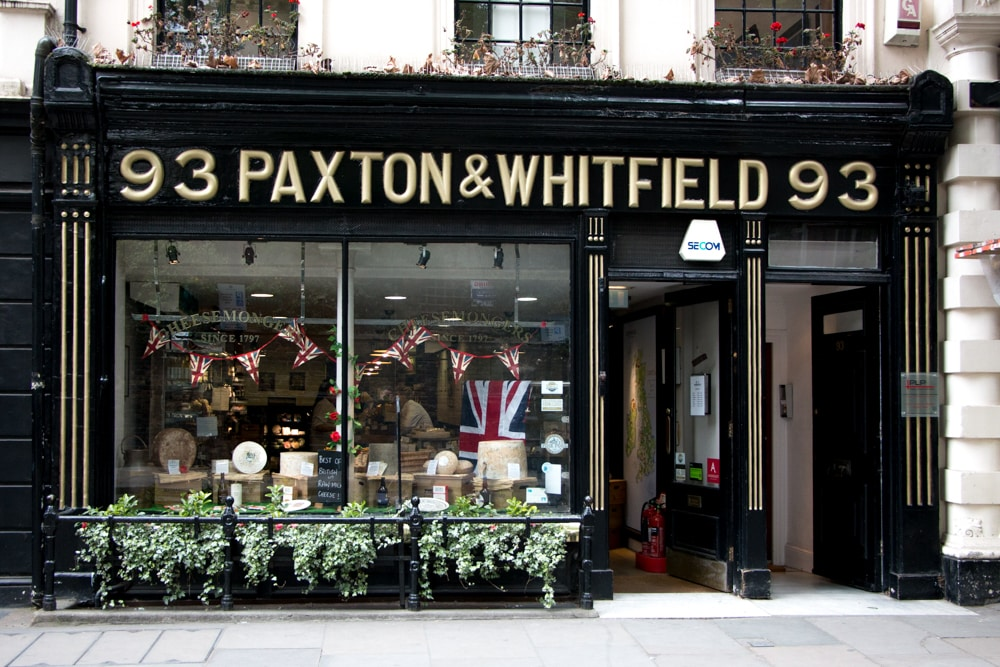 Paxton & Whitfield Cheese Shop - London Food Tour