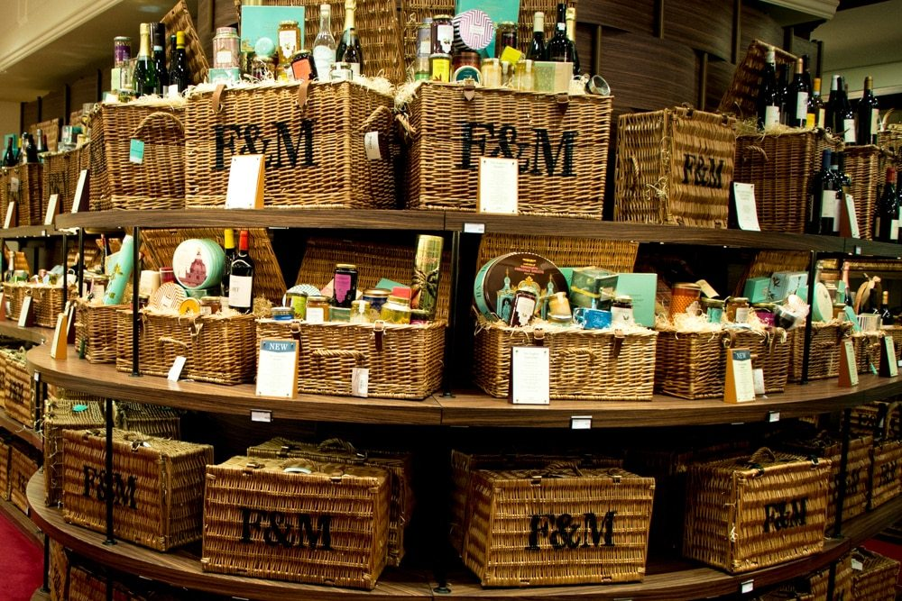 Hampers at Fortnum and Mason - London Food Tour