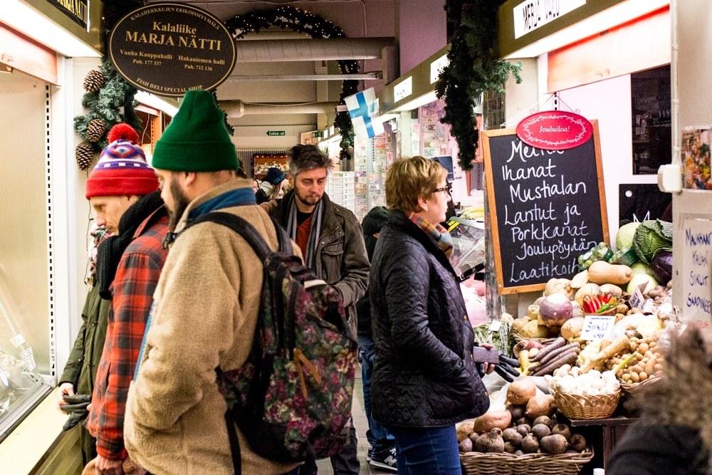 Hakaniemi Market Hall in Helsinki Finland