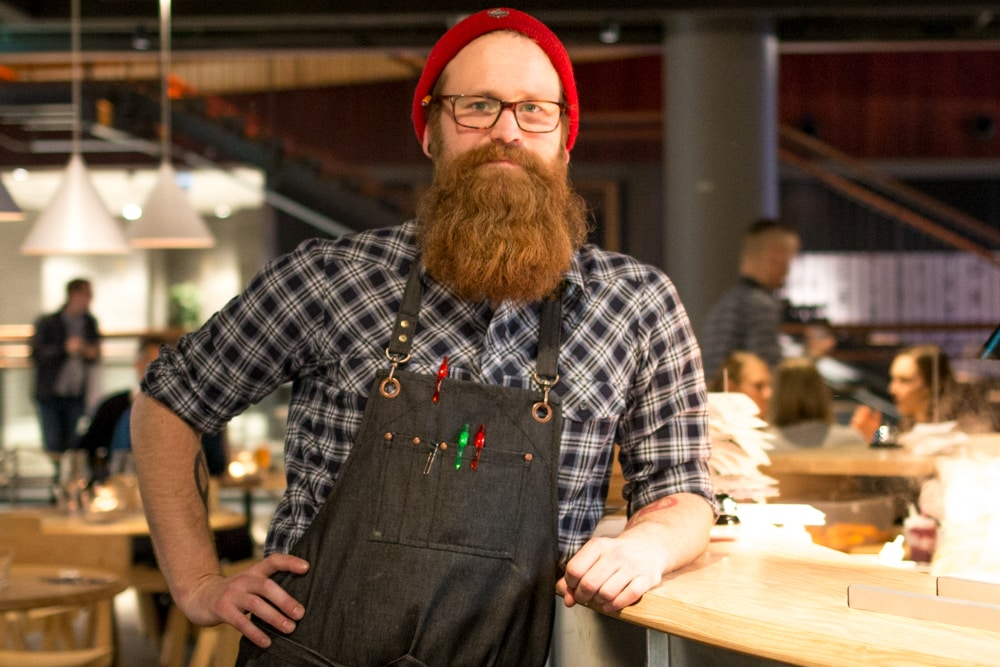 Hipster Server in Helsinki Finland - Where to Eat in Helsinki Finland - A Helsinki Food Guide