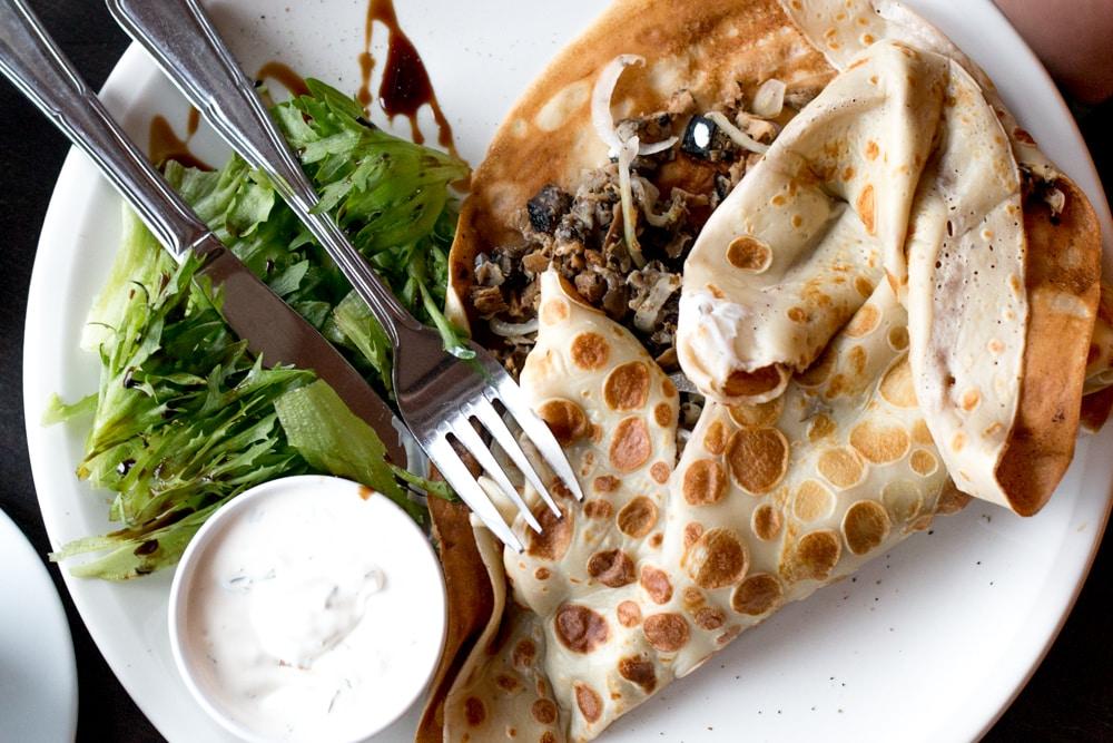Boheem Cafe - Mushroom Crepe - Where to Eat in Tallinn - A Tallinn Food Guide