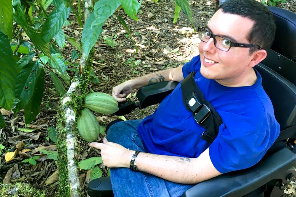 Ecuadorian Food - Cory Lee with Cacao Beans in the Amazon Rainforest