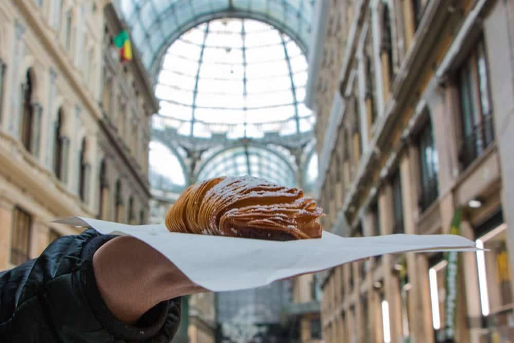 Santa Rosa Soogliatella at Sfogliatella Mary at Galleria Umberto in Naples Italy