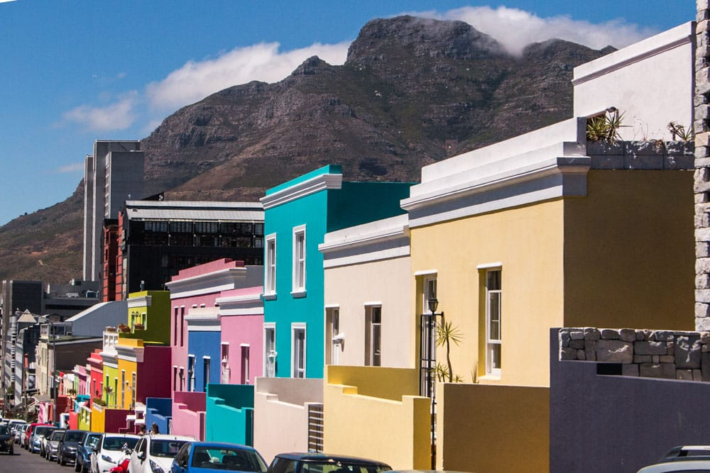 Colorful Bo-Kaap Houses in Cape Town South Africa