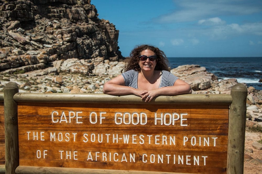 Cape of Good Hope Sign in South Africa