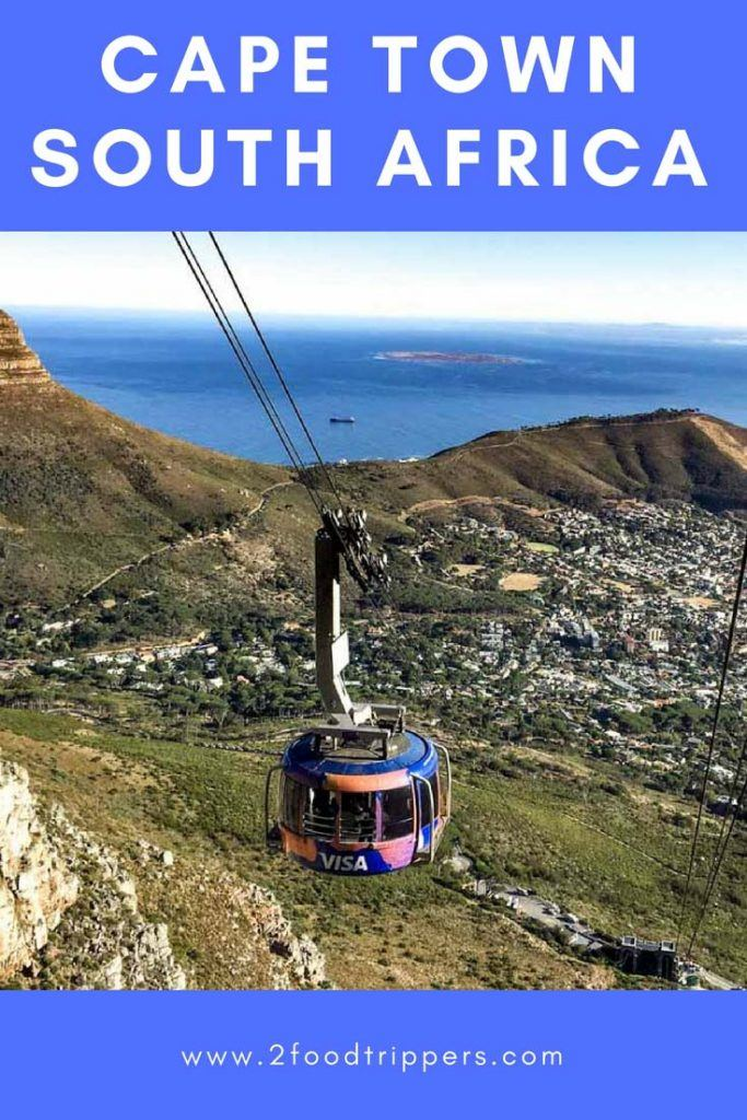 Pinterest image: image of Table Mountain with caption reading 'Cape Town South Africa""