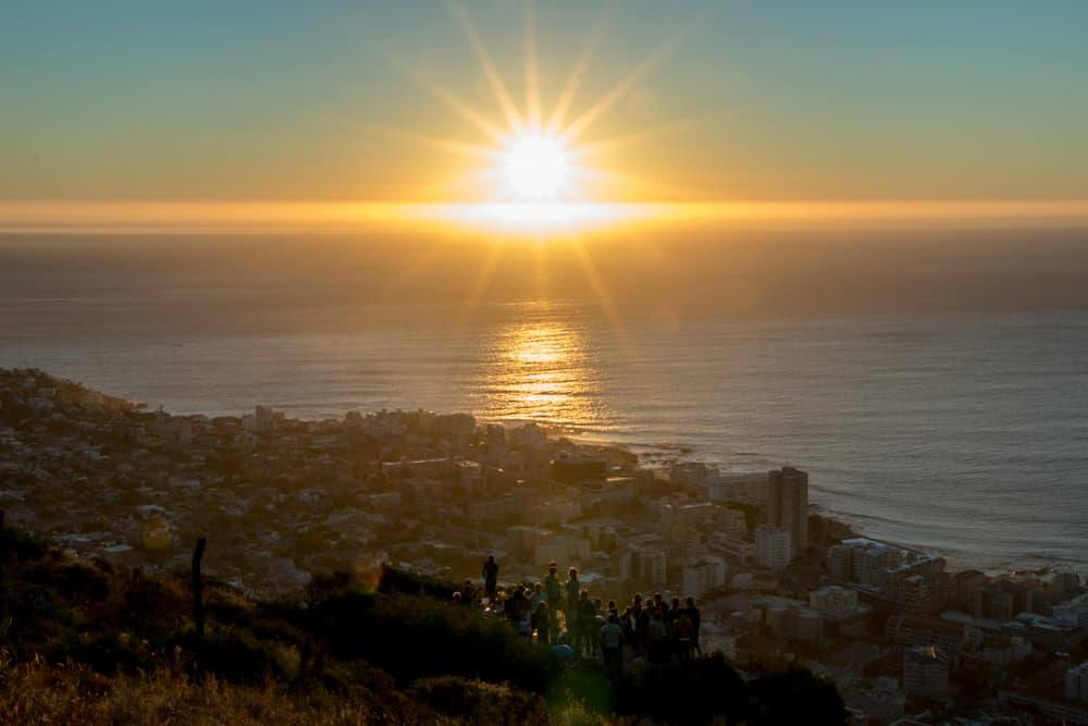 Signal Hill Sunset in Cape Town South Africa