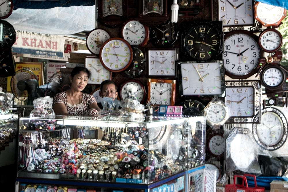 Clock Store in Hue Vietnam