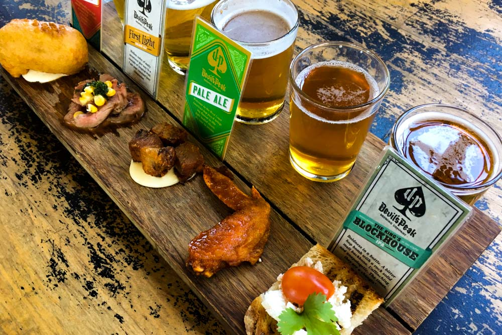 Where to Eat in Cape Town South Africa - A Cape Town Food Guide - Devil's Peak Brewing Company Tasting