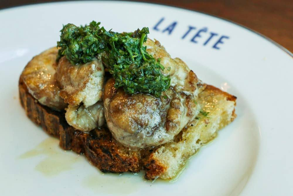 Where to Eat in Cape Town South Africa - A Cape Town Food Guide - La Tete Lamb Brains on Toast