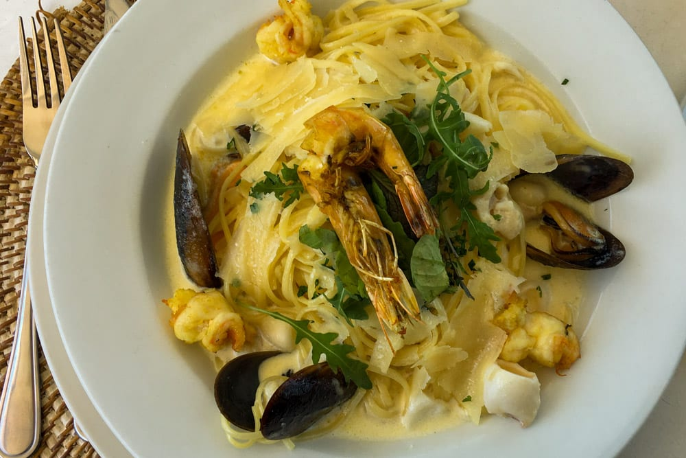 Where to Eat in Cape Town South Africa - A Cape Town Food Guide - Live Bait Seafood Linguine