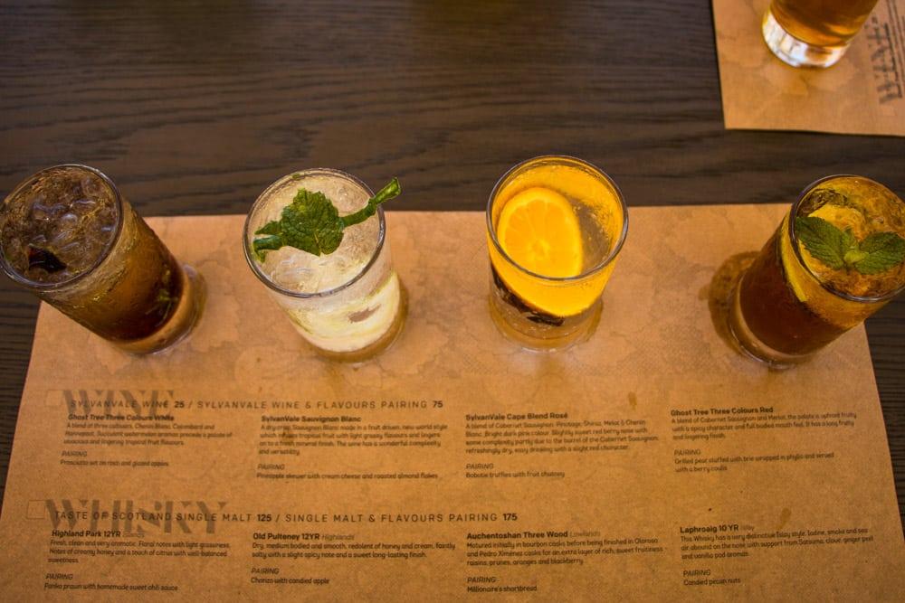 Gin Tasting at Devon Valley Hotel in Stellenbosch South Africa