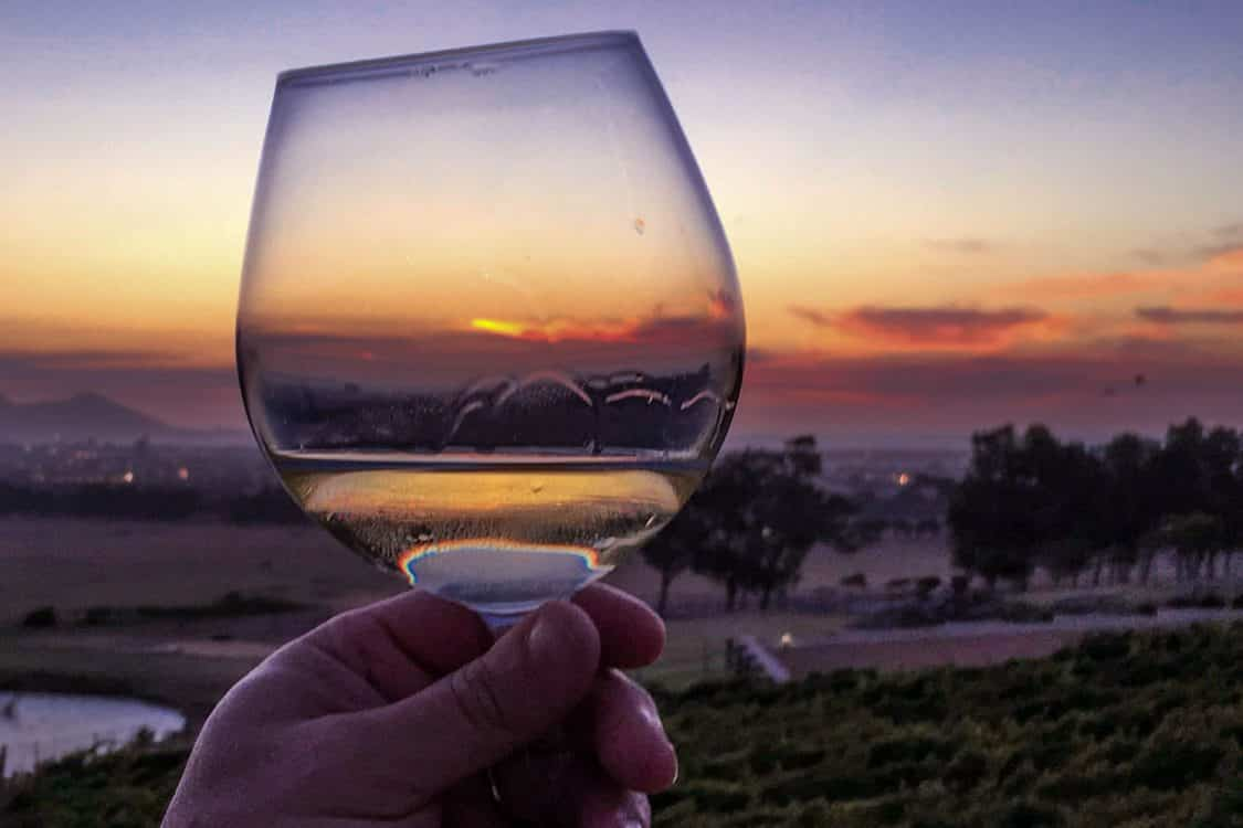 Wine Sunset - Cape Town Day Trip to the Durbanville Wine Farms