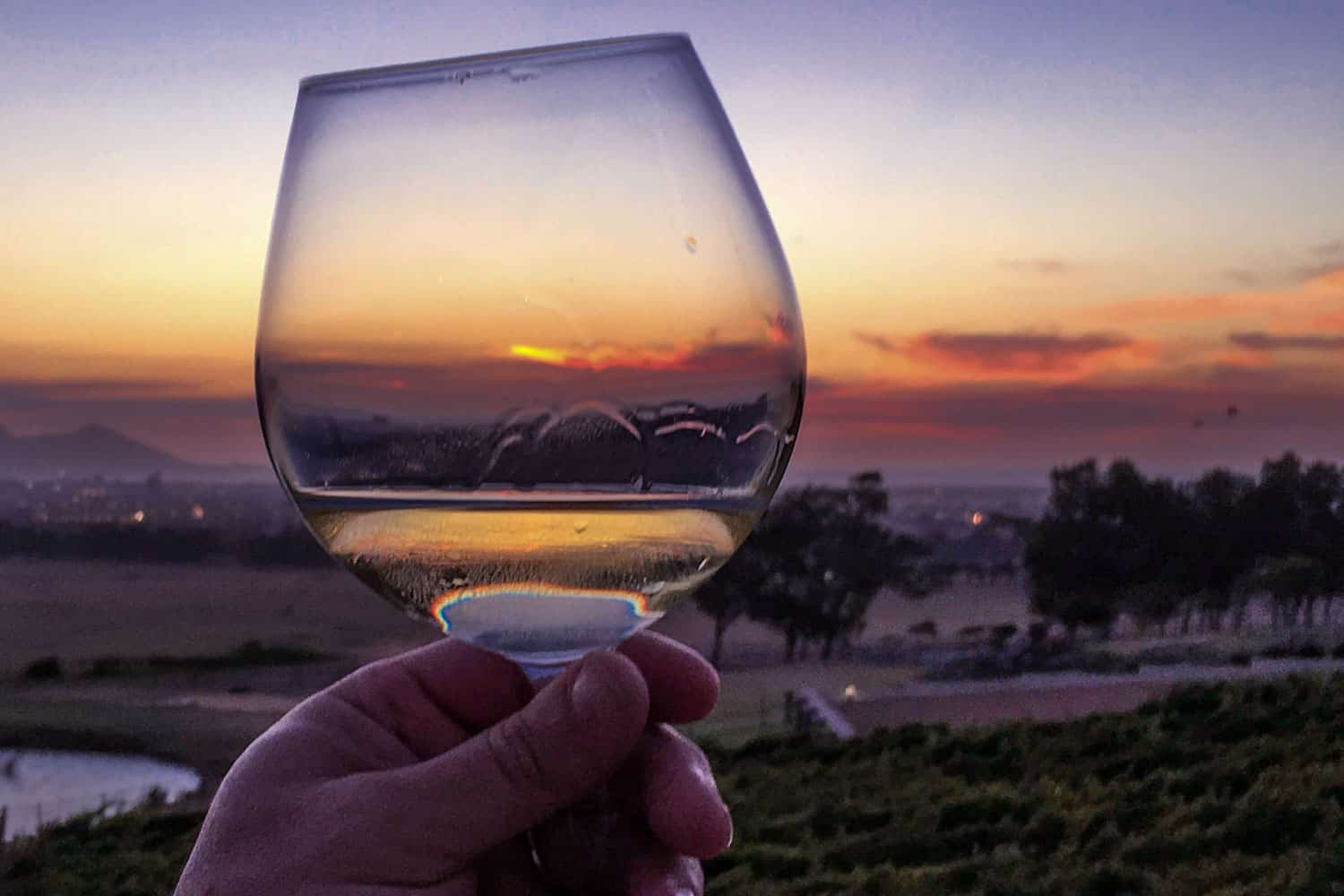 Sunset at De Grendel Estate in Durbanville South Africa