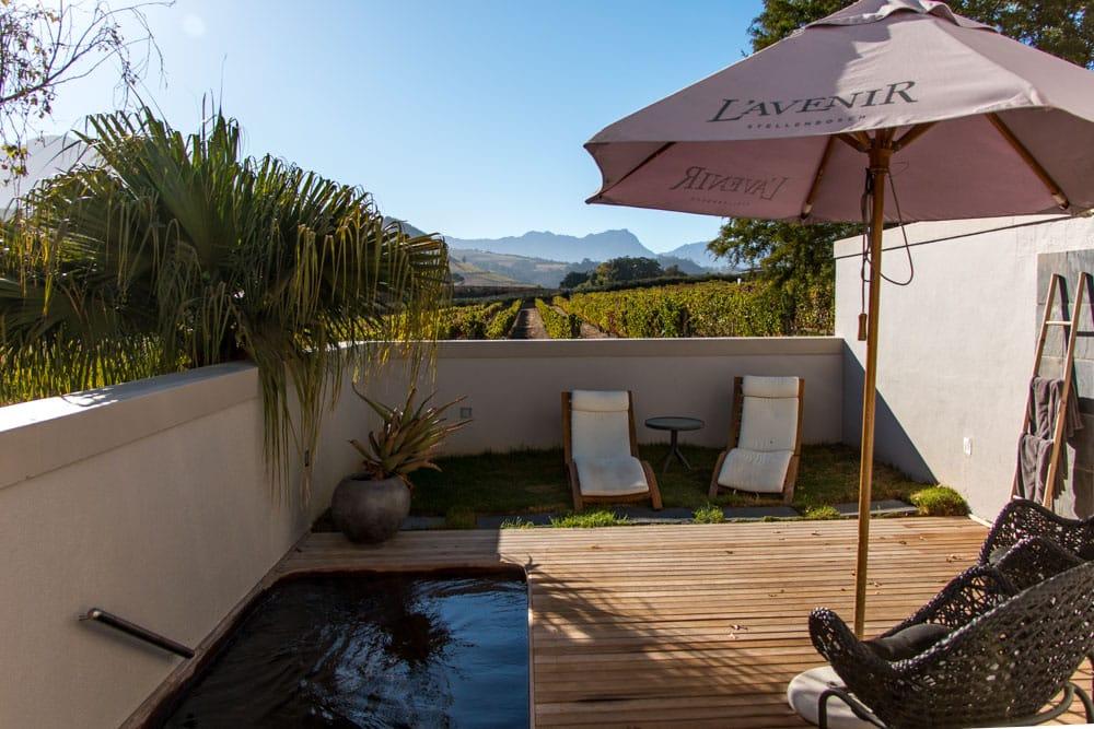 Private Pool at L'Avenir Estate in Stellenbosch South Africa
