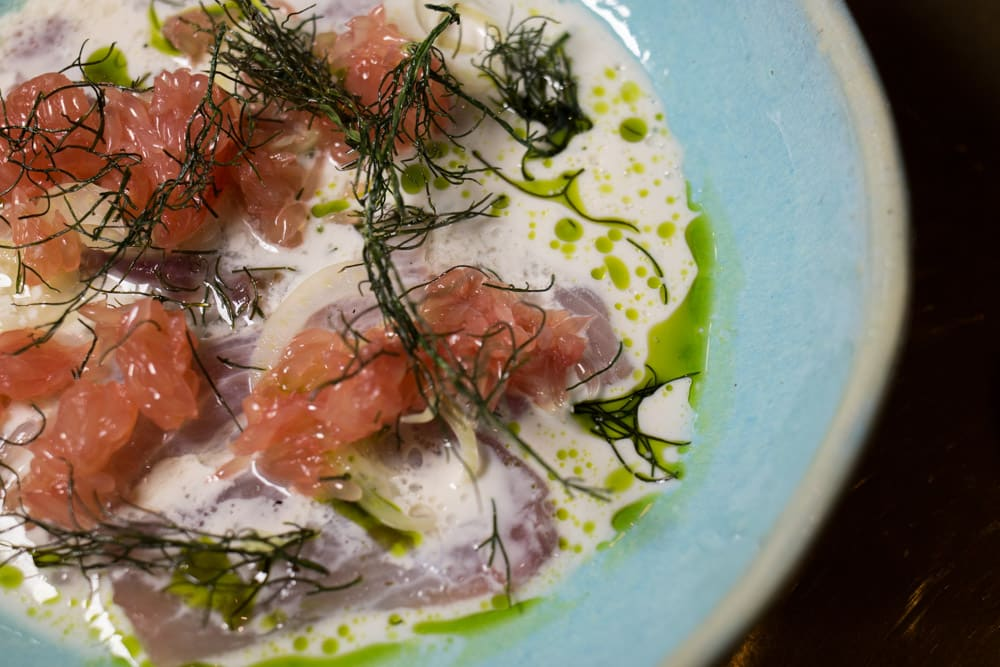 Sashimi at Makaron -Stellenbosch Restaurants and Beyond - A Cape Winelands Food Guide