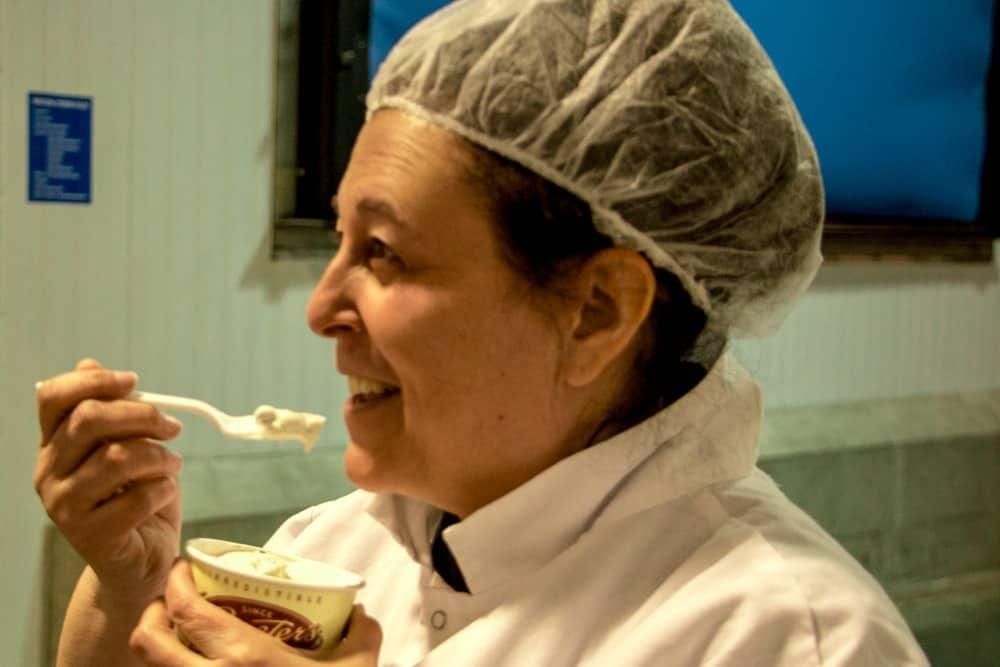 Mindi at Graeter's Factory in Cincinnati