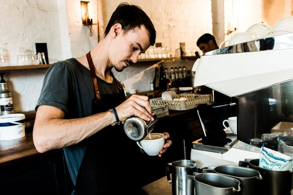 Barista at Origin Coffee in Cape Town South Africa