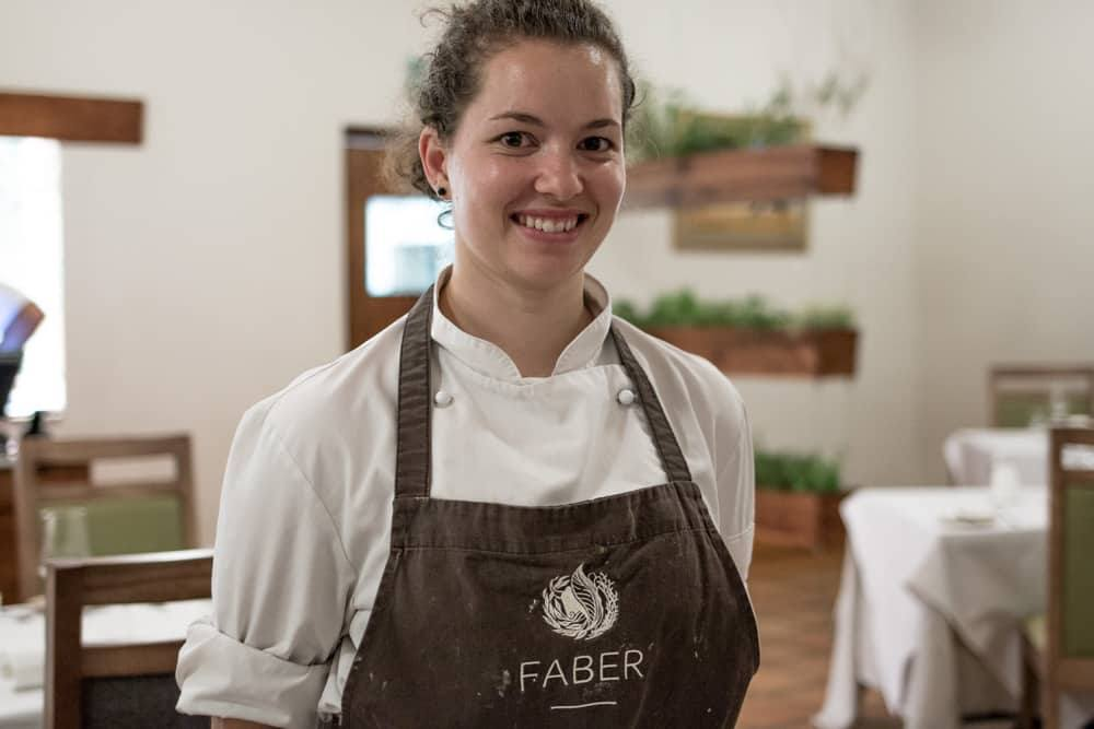 Pastry Chef Amore Botha at FABER in Paarl South Africa