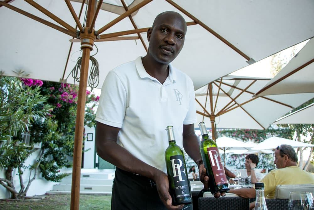 Reuben Munyanyi at Peter Falke Wines in Stellenbosch South Africa