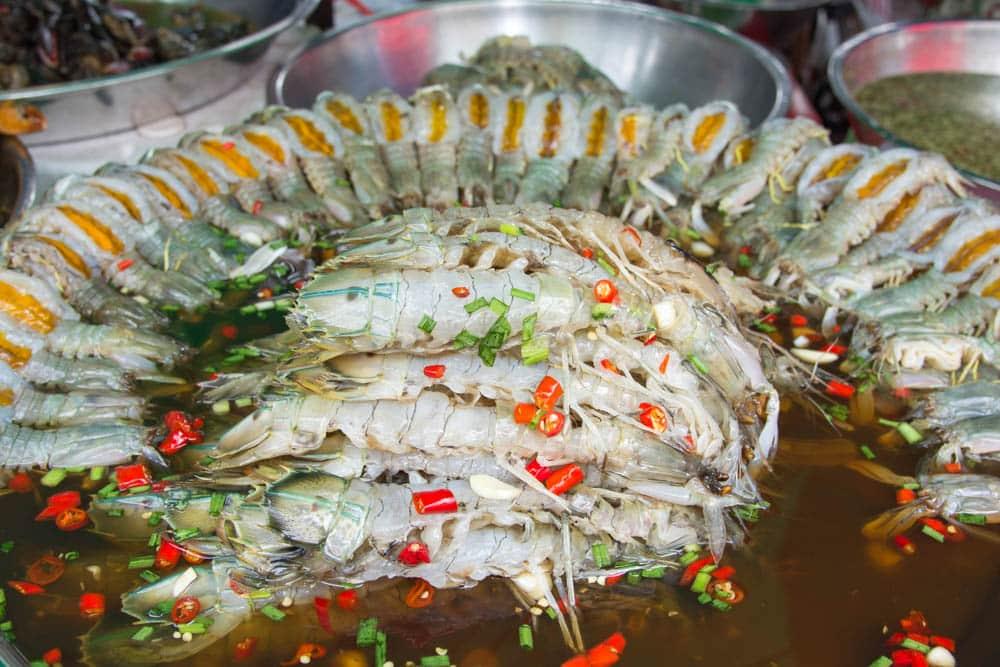 Raw Mantis Shrimp