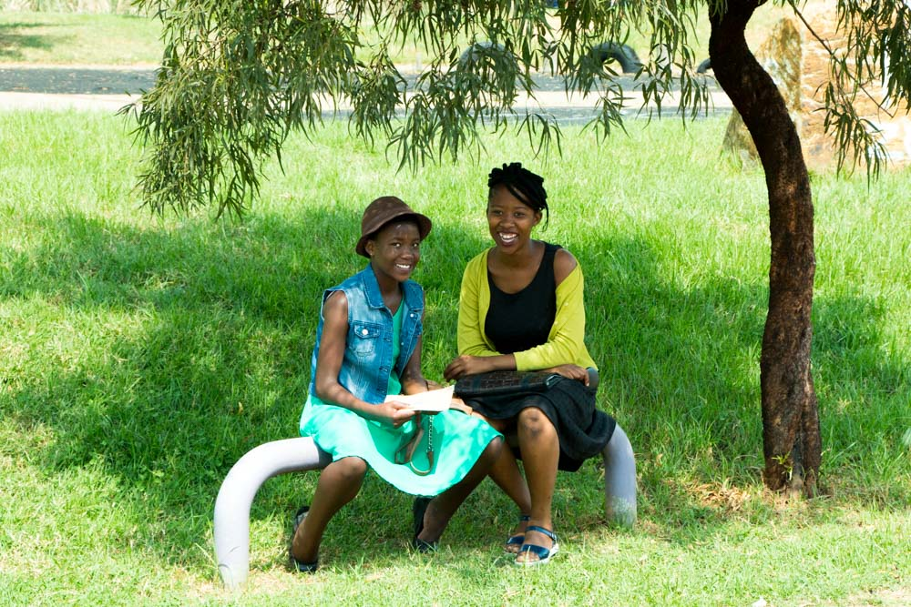 Two Girls in Thokoza Park in Soweto