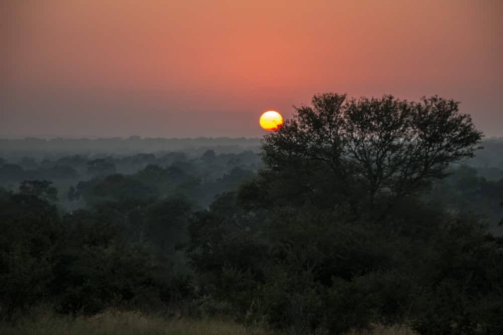 African Sunset at Kirkman's Kamp in South Africa