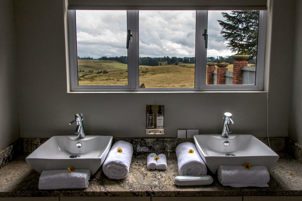Bathroom at Brahman Hills Hotel in South Africa