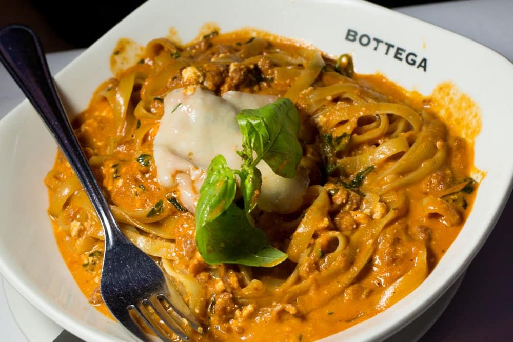 Pasta at Bottega in Johannesburg South Africa