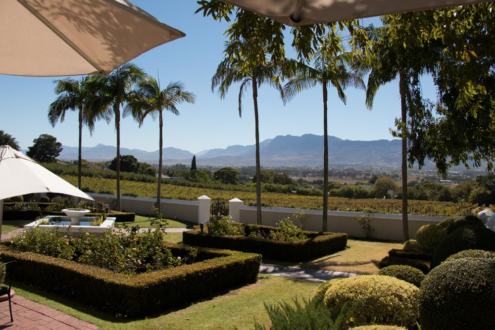 Grounds at the Grande Roche Hotel in Paarl South Africa