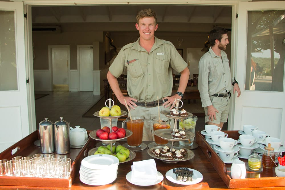 High Tea at Kirkman's Kamp in South Africa