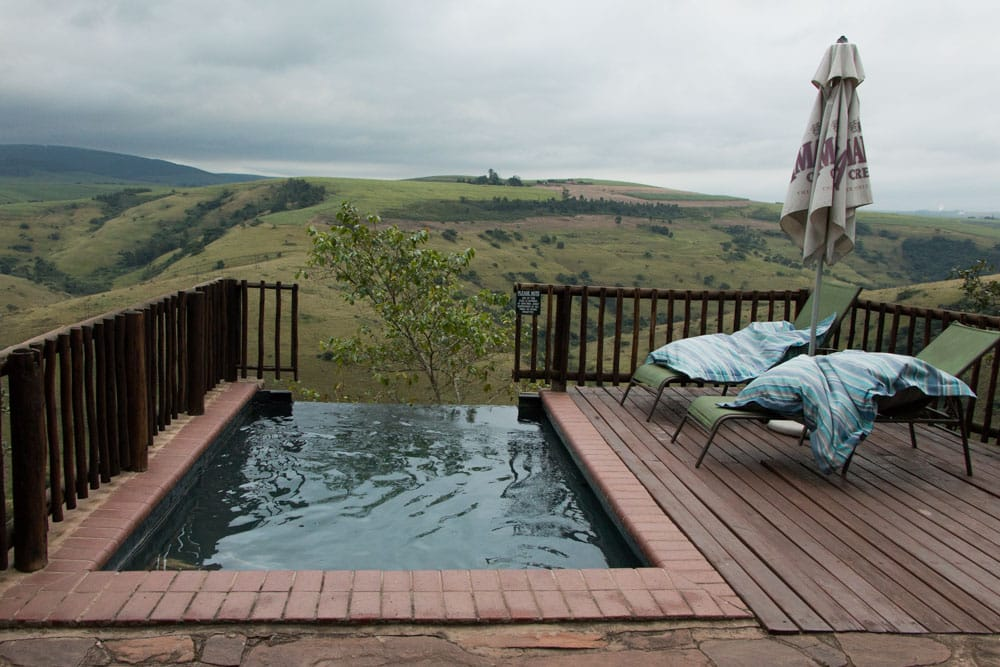 Infinity Pool at Gwahumbe Game Lodge and Spa in South Africa