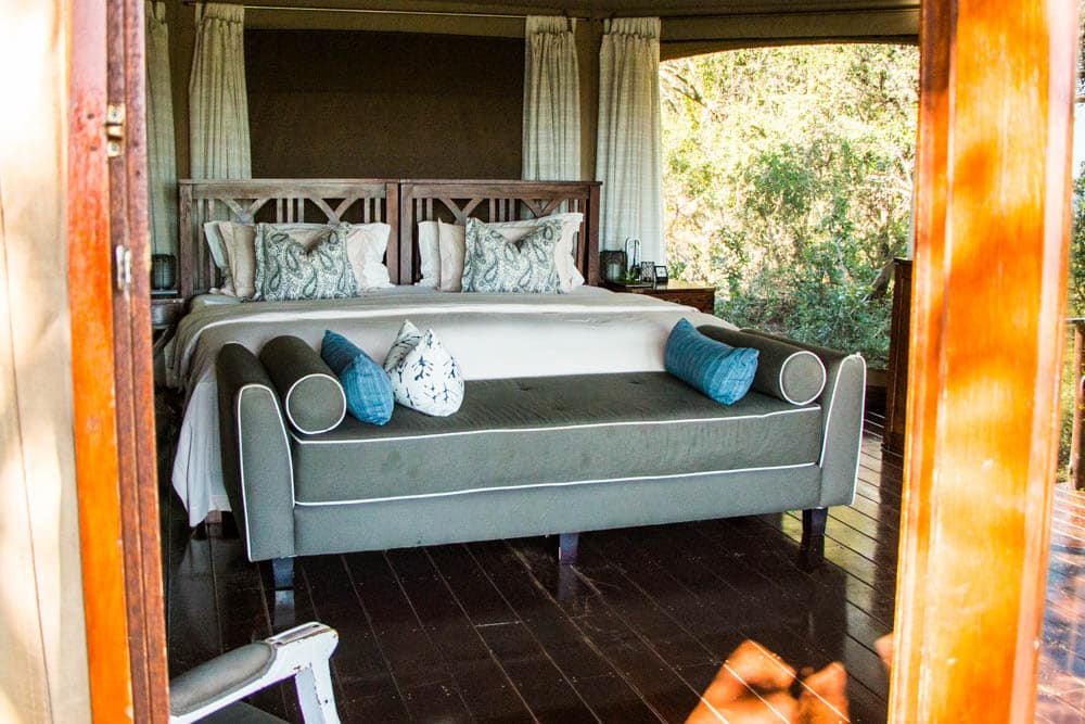 Inside the Tent at Thanda Safari in South Africa