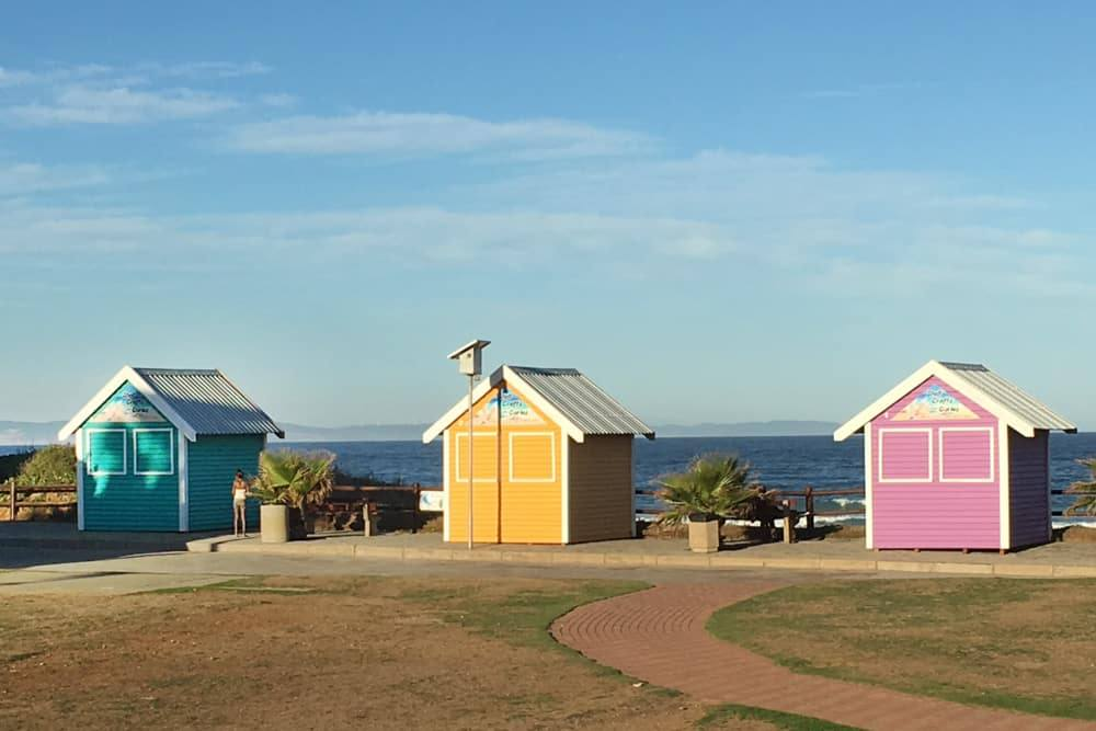 Colorful Bungalows in Jeffreys Bay South Africa