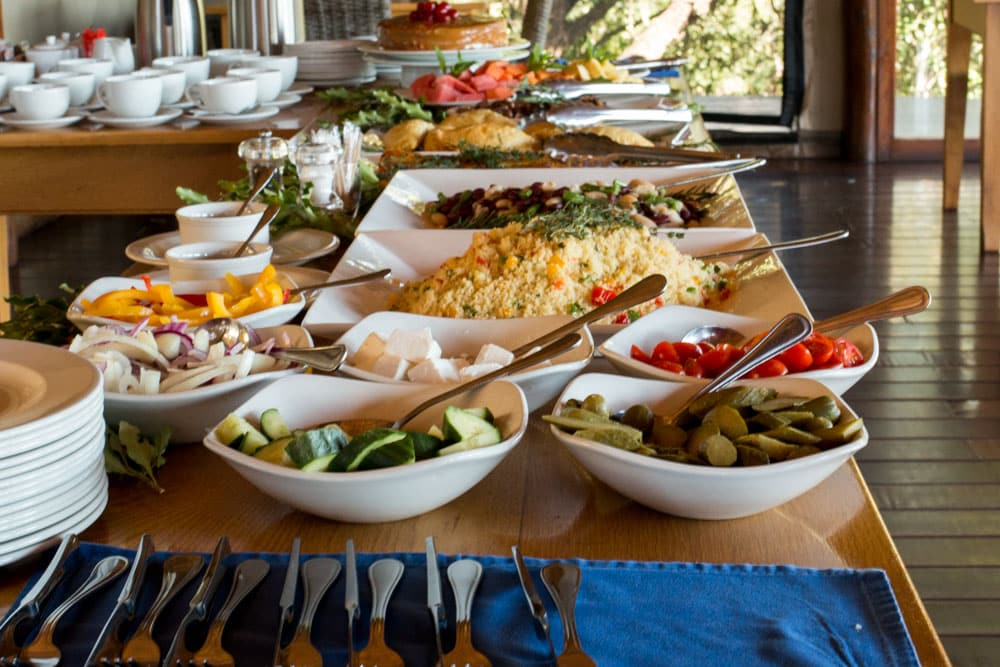 Lunch at Thanda Safari in South Africa