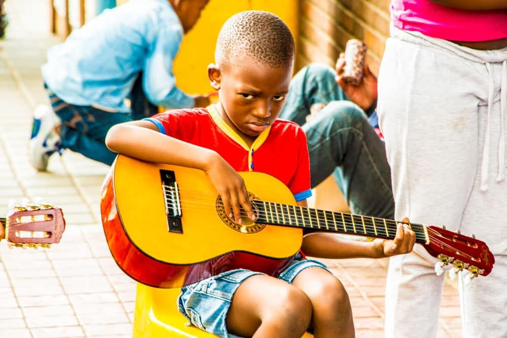 Maboneng Guitar Student in Johannesburg South Africa