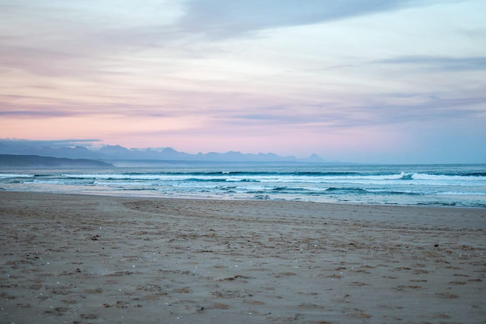 Dusk at Plettenberg Bay Beach in South Africa