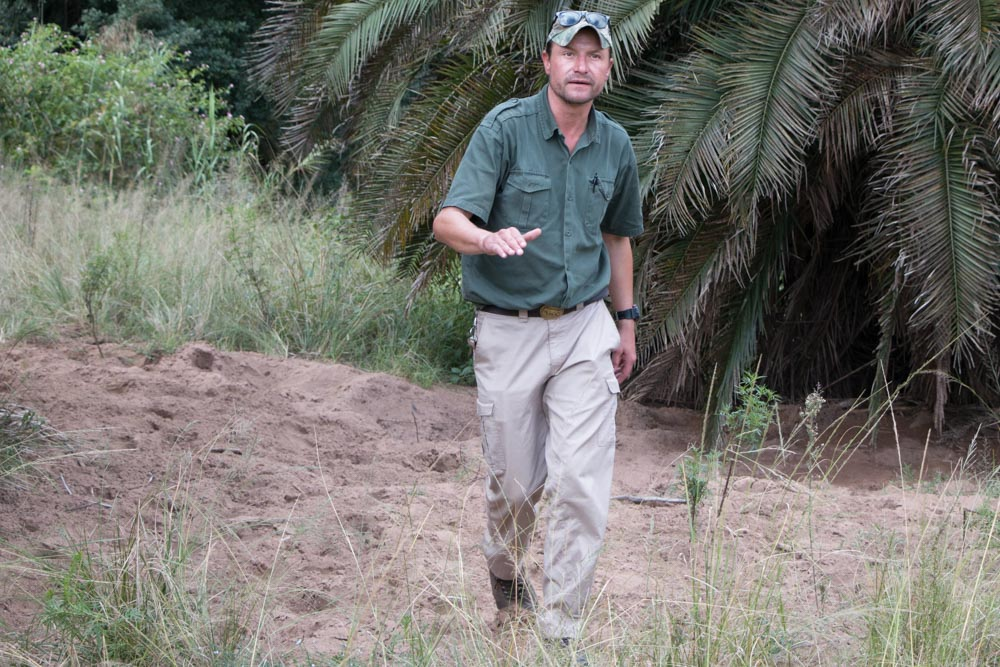 Ranger Ed Balt at Gwahumbe Game Lodge and Spa in South Africa