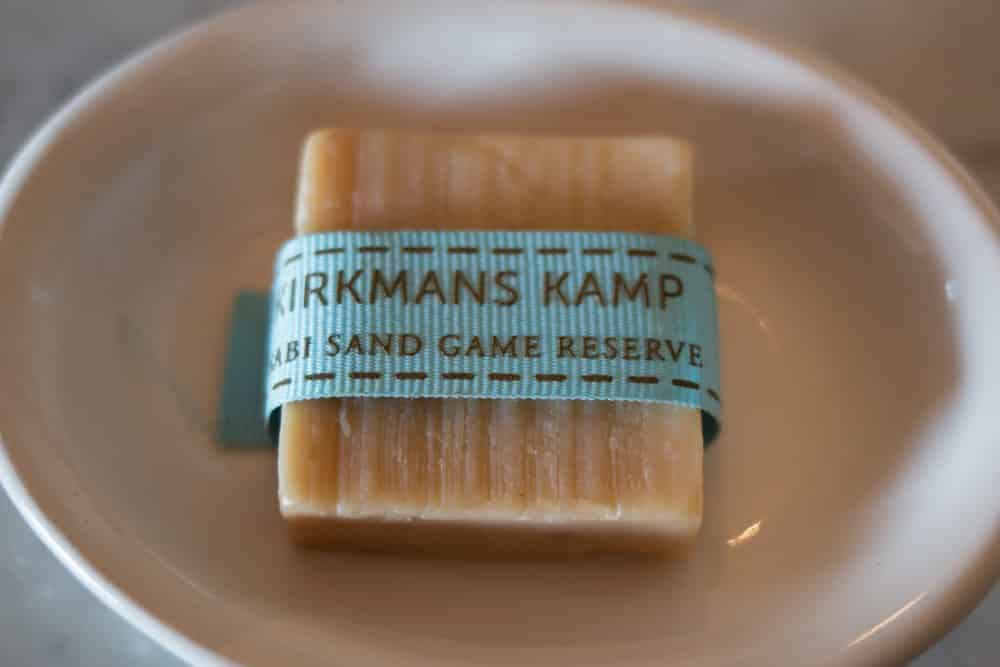 Luxury Soap at Kirkman's Kamp in South Africa