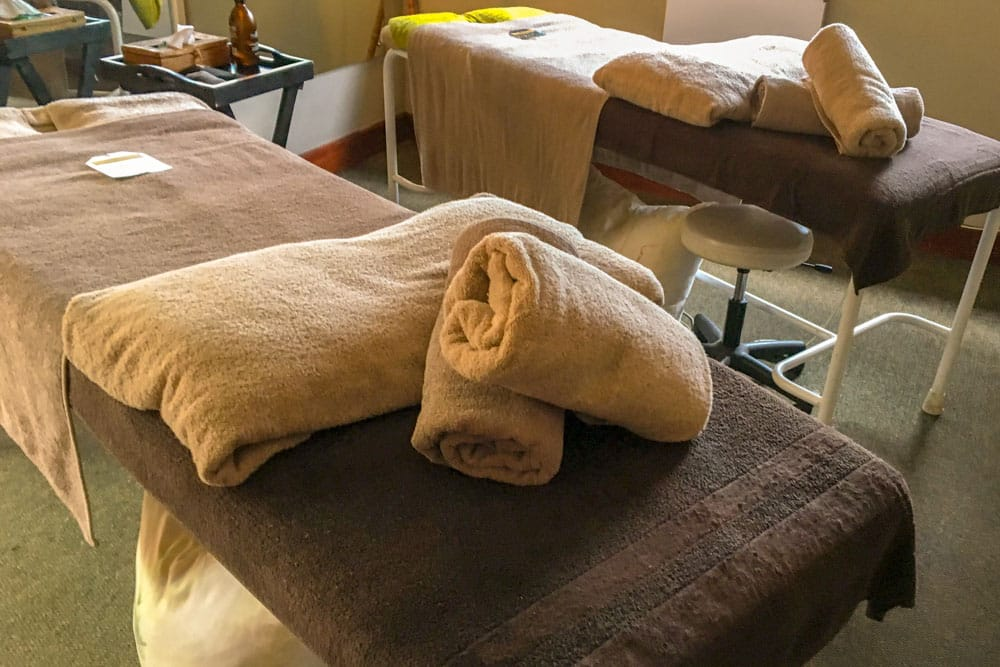 Massage Beds at Gwahumbe Game Lodge and Spa in South Africa