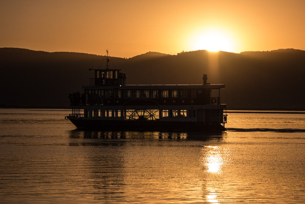 Barge at Sunset in Knysna South Africa